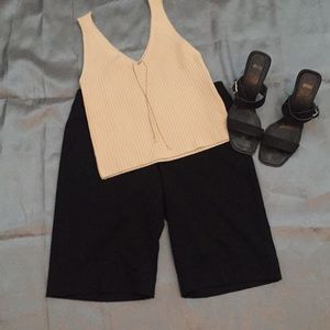 Knee length Black Dress Short